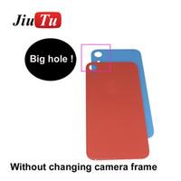 capa original capa iphone venda por atacado-Substituição de vidro de volta para o iphone 8 8 plus x xs x r xs max tampa da bateria porta traseira habitação original com logotipo
