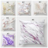 Wholesale pillow case personalize resale online - Marble Cushion Cover Personalized Square Pillow Case Decorative Pillows Covers Car Sofa Home Decor Designs DSL YW1902