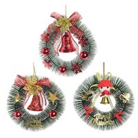 Wholesale 16cm gift box for sale - Group buy 28 CM Christmas Wreath Door Decoration Hanging Gift Box Bell Garland New Year Christmas Decorations For Home Wreath
