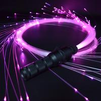 оптоволоконная легкая игрушка оптовых-LED Волоконно-оптический Space Whip 360 ° Поворотный Super Bright Light Up Rave игрушки EDM потока космического танца Кнут Этап Новизна Свет