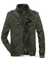 große kragen schwarze mantel herren großhandel-Winter Herren Big Size 5xl 5xl 6xl Schwarz Khaki Army Green Jacke Slim Stehkragen Baumwollmantel
