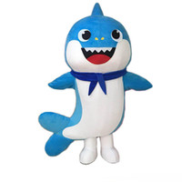 Wholesale new cartoon mascot costumes resale online - 2019 Professional shipping factory direct new adult Baby Shark Cartoon Mascot Costumes Party Cartoon Characters Costumes