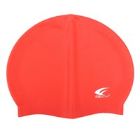 touca de natação vermelha venda por atacado-FEIUPEF Tampa Da Piscina Unisex Silicone Moldado Chapéu De Natação À Prova D 'Água Do Chuveiro Das Senhoras Dos Homens Vermelho