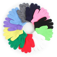 Wholesale fashion magic gloves resale online - Hot Fashion Children Gloves Kids Magic Glove Mitten Girl Boy Kid Stretchy Knitted Winter Warm Gloves Pick Color