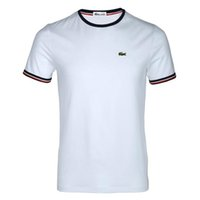 Wholesale polo ralph tops for sale - Men s designer T shirt top cotton embroidered crocodile print T shirt top French brand neck tag medusa fear of god ralph polo white off