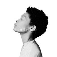 pelucas rizadas apretadas al por mayor-Cabello europeo Tight Afro Kinky Curly Celebrity pelucas de corte corto con cabello para bebé sin cola virgen brasileña corta llena de encaje pelucas de cabello humano