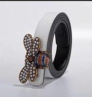 ceintures en cuir européennes achat en gros de-Mode luxe abeille boucle menswear designer ceinture ceinture de cuir marque européenne haut de gamme ceinture