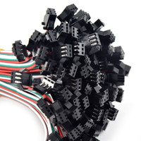 conector macho fêmea fêmea venda por atacado-100 pares de 3 pinos JST SM Masculino Feminino plug LED Conector Cabo para WS2812B SK6812 WS2811 CONDUZIU a Lâmpada de Tira com 15 cm de Comprimento Fio
