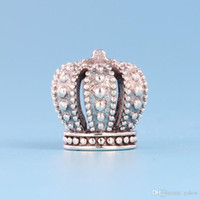 925 sterling silver crown charms achat en gros de-NOUVEAU Classique 925 Sterling Silver Crown Charm Set Boîte d'origine pour Pandora DIY Bracelet Européenne Perles Charmes Bijoux accessoires
