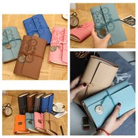 Wholesale leather diary gift resale online - hot style travel diary books Loose leaf retro wind strap creative notebook book portable handbook leather notepad School Supplies T2I5424