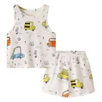 ingrosso ragazzo abbigliamento camicie camicie-Set di abbigliamento per neonato Set di t-shirt stampate per auto in cartone animato Pantaloncini in cotone per bambini estivi Vestiti firmati 1-3T
