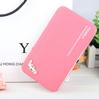 Wholesale cell phone wallet money case resale online - LILY QUEEN Girls Cute Fashion Long Wallet Phone Bag Money Case Hasp Large Capacity Purse Solid Leather Pouch