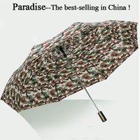 ingrosso grande piegatura ombrello-122 cm uomini ombrello automatico pieghevole camuffamento sole pioggia donna portatile parasole ragazzo grande qualità di viaggio grande antivento ombrelli