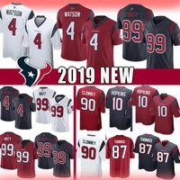 hopkins jersey al por mayor-4 Deshaun Watson 99 J.J. Watt Texans Jersey Houston 2019 nuevos Limited Texans 10 DeAndre Hopkins 87 Demaryius Thomas Clowney camisetas de fútbol
