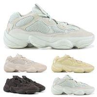 zapatos de gran tamaño al por mayor-2019  yeezy 500 New Salt 500 Kanye West Zapatos para correr para hombre Zapatos de diseño Super Moon Yellow Blush Desert Rat 500 Zapatillas deportivas Entrenadores Tamaño 36-46