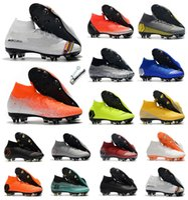 Wholesale mercurial vapor soccer boots resale online - 2019 mens soccer shoes Fury CR7 Mercurial Vapors XII VII Elite FG soccer cleats outdoor football boots Mercurial Superfly VI Elite FG
