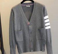 ingrosso maglione marrone del cardigan-Cardigan con cerniera blu scuro, nero e grigio con cappuccio, lettera con cerniera blu scuro e rouches