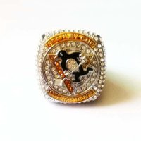 hokey yılbaşı hediyeleri toptan satış-Arkadaşlık 2016 Pittsburgh Penguins (Crosby) Stanley Cup Hokeyi Şampiyonası Halka Ücretsiz Kargo Doğum Noel Hediyesi