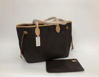 Wholesale tote large resale online - Brand new quality women shoulder bags Large tote shopping handbag tote satchel Retro purse N41357 color