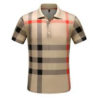 herren langarm polo blau großhandel-Designer Polo Shirts Herren Luxus Polo Casual Herren Polo T Shirt Schlange Biene Brief Drucken Stickerei Mode High Street Herren Polos