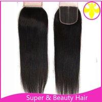 sınıf 5a saç demetleri toptan satış-Sınıf 5a saç uzantıları demetleri saç kapatma 4 * 4 ücretsiz kargo