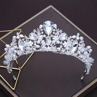 ingrosso copricapo della perla della principessa-Exquisite Crystal Crown Bride Headdress Wedding Pearl Jewelry Crowns Wedding Tiaras Jewelry Sposa Princess Crown Copricapo S602