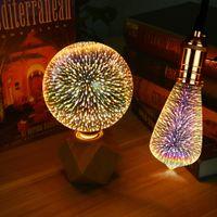 ingrosso stringa e27-Lampada a LED 3D Lampadina Edison Decorazione vintage Lampadina a filamento E27 LED Rame Wire String Sostituire Lampadina a incandescenza