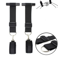 Wholesale erotic swings for sale - Group buy Women Lingerie Sexy Handcuffs Wrist Tied Hand BDSM Bondage Set Adult Erotic Rope Swing Chairs Hanging Door Sex Toys Hanging handcuffs