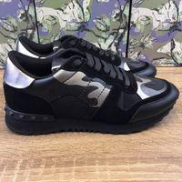 zapatillas blancas de hip hop al por mayor-Mens superior zapatos de diseño real de Leahter 100 de descuento Chaussures camuflaje blanco suela de goma estilo de Hip Hop de lujo stock x youthshoes zapatillas de deporte