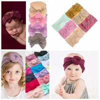 Wholesale infant baby girl accessories for sale - 5 design baby girls headband nylon babies fashion hair accessories infant toddler hairband solid pure color many style offer choose