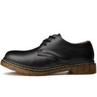 plus größenstiefel großhandel-Männer Stiefel Plus Größe 35-46 New Martens Casual Leder Doc Martins Stiefel Mens Military Schuhe Arbeit Sicherheitsschuh