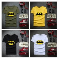 tişört batman toptan satış-Yeni Moda Karikatür Batman T Shirt Marka Erkekler O Boyun Kısa Kollu Pamuklu Erkek T-Shirt Euro Boyutu Adam tişört Ücretsiz Nakliye Tops