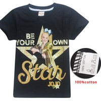 Wholesale t shirt dhl free resale online - Jojo Siwa Clothes Big Kids Girl T shirt Tees Tops Short Sleeve Cotton Girls clothing Shirts Y Summer Clothes Free DHL
