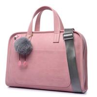 laptop-etuis 15,6 zoll großhandel-Mode große kapazität laptop tasche frauen laptop aktentasche tasche für notebook handtasche shoulde rbag 12 13,3