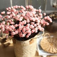 köpüklü gül toptan satış-15 Kafaları PE Köpük Küçük Güller Simülasyon Gül Çiçekler Sahte Çiçekler Mini PE Köpük Çiçekler Gül Düğün Sevgililer Ev Dekorasyon