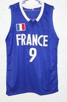tony parker jersey kaufen großhandel-2019 neue hochwertige Tony Parker # 9 Team France Herren Basketball Jersey Benutzerdefinierte Namen und Nummern