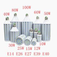 ingrosso mr16 led bianco puro-Lampadina SMD573030W 40W 50W 60W 80W lampadina LED lampada LED E26 E27 E14 E39 E40 B22 85-265V / AC Lampadina del cereale Lampadine