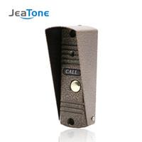 videoportero ir al aire libre al por mayor-JeaTone Door Phone Intercom Home Security Video Intercom Apartamento Timbre de la puerta Video IR Visión nocturna Panel de llamadas al aire libre