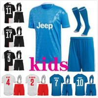 Wholesale ronaldo jersey youth for sale - Group buy 2019 Soccer FC Youth Juventus Jersey Kids Set White RONALDO CHIELLINI COSTA MANDZUKIC DYBALA MATUIDI Children Football Shirt Kits