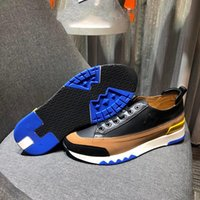 Wholesale shoes men italy new resale online - 2020 New Italy Imported High quality Original Imported Original Calfskin Brand Stretch Fabric Men and Women Casual Shoes