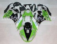 carenado abs zx 636 al por mayor-OEM Calidad Nueva ABS Carenados Moldes de Inyección kits 100% aptos para la Kawasaki Ninja ZX-6RZX6R 636 09 10 11 12Bodywork Set brillante Verde Negro Blanco