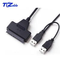 hdd kabloları toptan satış-USB3.0 SATA 7 + 15 22Pin Kablo Adaptörü Dönüştürücü USB2.0 Ile 2.5 Inç Sabit Disk Sürücüsü HDD SSD Için güç Kablosu