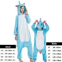 Wholesale winter jumpsuits pajamas for sale - Group buy Family Matching Outfit Baby Boy Girl Pajamas Unicorn Winter Women Pyjamas Cartoon Animal Onesie Kigurumi Kids Sleepwear Jumpsuit