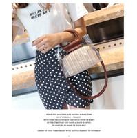 ingrosso imballaggio per cannucce-Nuovo sacchetto trasparente borsa da donna estiva di moda borsa diagonale portatile pacchetto due pezzi in sacchetto all'ingrosso