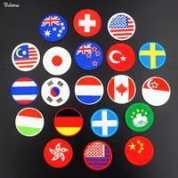 ingrosso adesivi nazionali di bandiera-Dimensioni tonde: 5.2 * 5.2 cm Distintivo della bandiera nazionale Patch Applique ricamato in ferro per i trasferimenti per gli indumenti