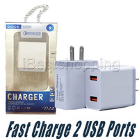 Wholesale power bank charger plug resale online - Usb Charger Wall Adapter Port Dual Usb Fast Charger US EU Plug Travel Charging For Mobile Phone