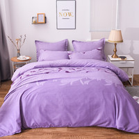 Wholesale red flower print pillowcase resale online - Flower Bedding Set Chinese Cymbidium Pattern Duvet Cover Pillowcase Bedlinen Single Queen King Size Blue Pink Color Bed Cover Home textile