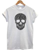 vêtements de style hipster achat en gros de-Crâne Crâne T Shirt Emo Indie Hipster Hommes Vêtements Enfants Mode Style drôle 100% Coton