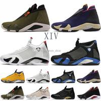 kırmızı mavi sutyen toptan satış-Yeni 14 14 s Ters Son Atış Erkekler Basketbol Ayakkabıları Siyah mavi Thunder Kırmızı Süet Son Shot Thunder Siyah Sarı DMP Sneakers