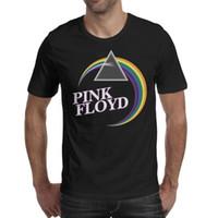 tee shirt homme rose noir achat en gros de-Pink-Song-Floyd-Lyrics-logo logo psychédélique rock noir mens tee shirts impression super personnalisé t-shirts t-shirt classique